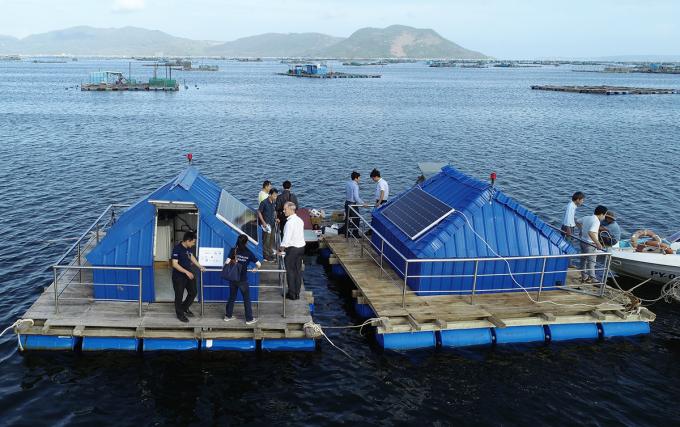 Trạm quan trắc nước biển lắp đặt tại Phú Yên. Ảnh: Aus4Innovation.