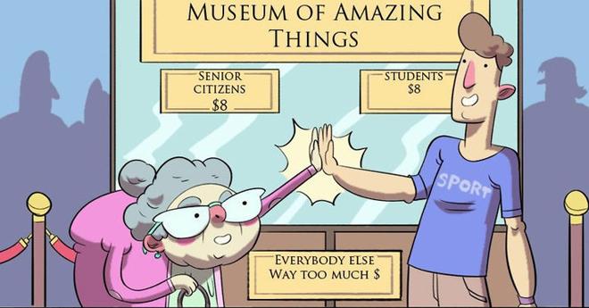 """<p class=""""Normal""""> Hai đối tượng đều được giảm giá dịch vụ công công, như vé xem bảo tàng, vé xe buýt.</p>"""