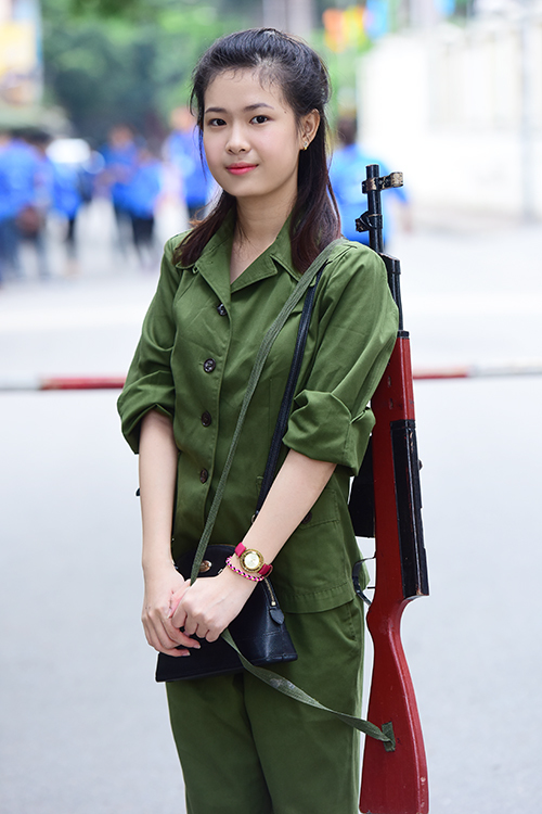 """<p class=""""Normal""""> Nguyễn Ngọc Ánh ở Hà Nội thi diễn viên, """"diễn chưa xong thì thầy cô bảo thôi, em còn hát và đọc thơ"""".</p>"""