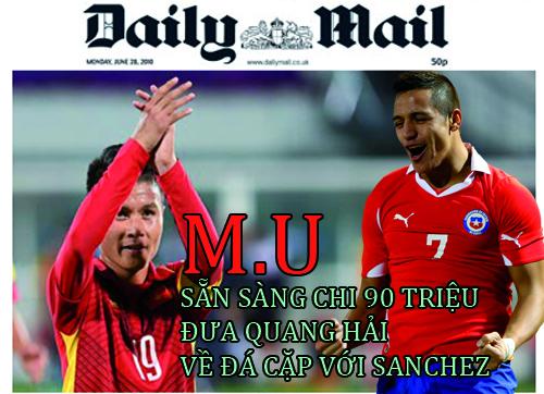 Man Utd là đội nhanh nhất khi sẵn sàng chi 90 triệu để có được chữ ký của Quang Hải.