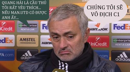 HLV Mourinho mong có Quang Hải trong đội hình.