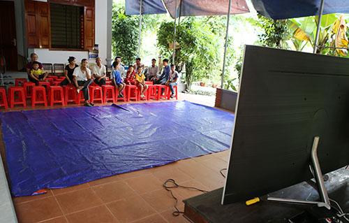 Quang cảnh sân nhà cầu thủ Công Phượng. Ảnh: Nguyễn Hải.