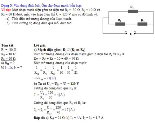 Bí quyết đạt điểm cao các dạng bài tập vận dụng định luật Ôm trong Vật lí 9 (xin edit) - 3