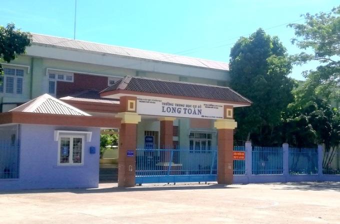 Trường THCS Long Toàn, TP Bà Rịa. Ảnh: Trường Hà.