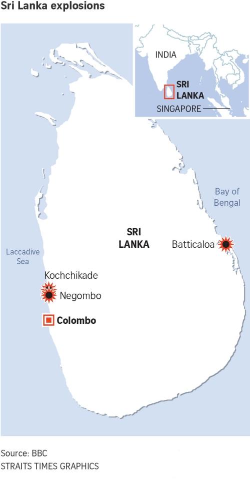 Những nơi xảy ra các vụ nổ. Đồ họa: BBC.