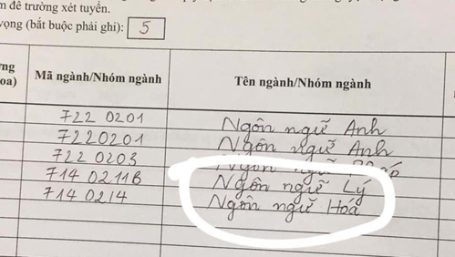 Những lỗi sai ngớ ngẩn khi viết hồ sơ thi đại học