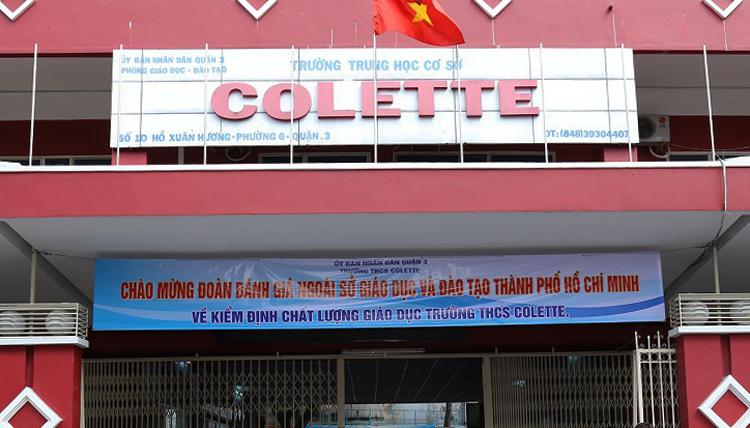 Điểm thi trường THCS Colette. Ảnh: Nguyễn Minh.