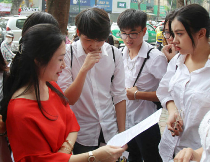Thí sinh Tây Ninh tham dự kỳ thi THPT quốc gia 2019. Ảnh: Báo Tây Ninh