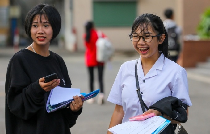 Thí sinh dự thi THPT quốc gia 2019. Ảnh: Quỳnh Trần