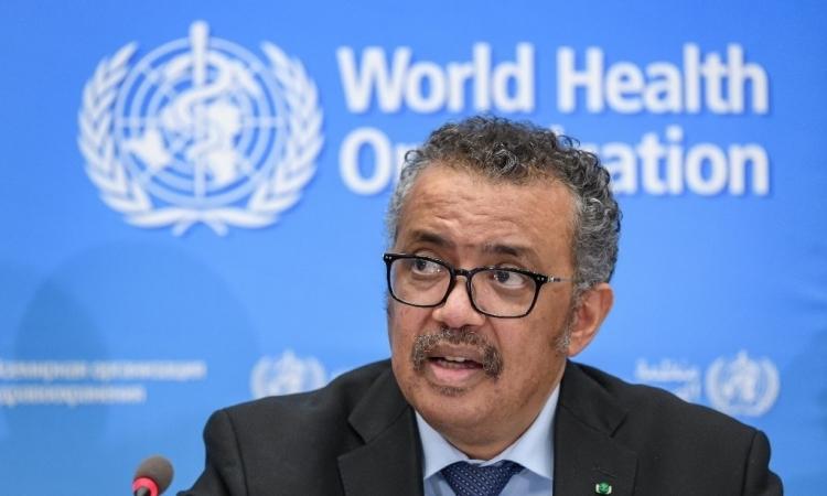 Tổng giám đốc của Tổ chức Y tế Thế giới (WHO) Tedros Adhanom Ghebreyesus trong buổi họp báo tại trụ sở hôm 24/2. Ảnh: AFP.
