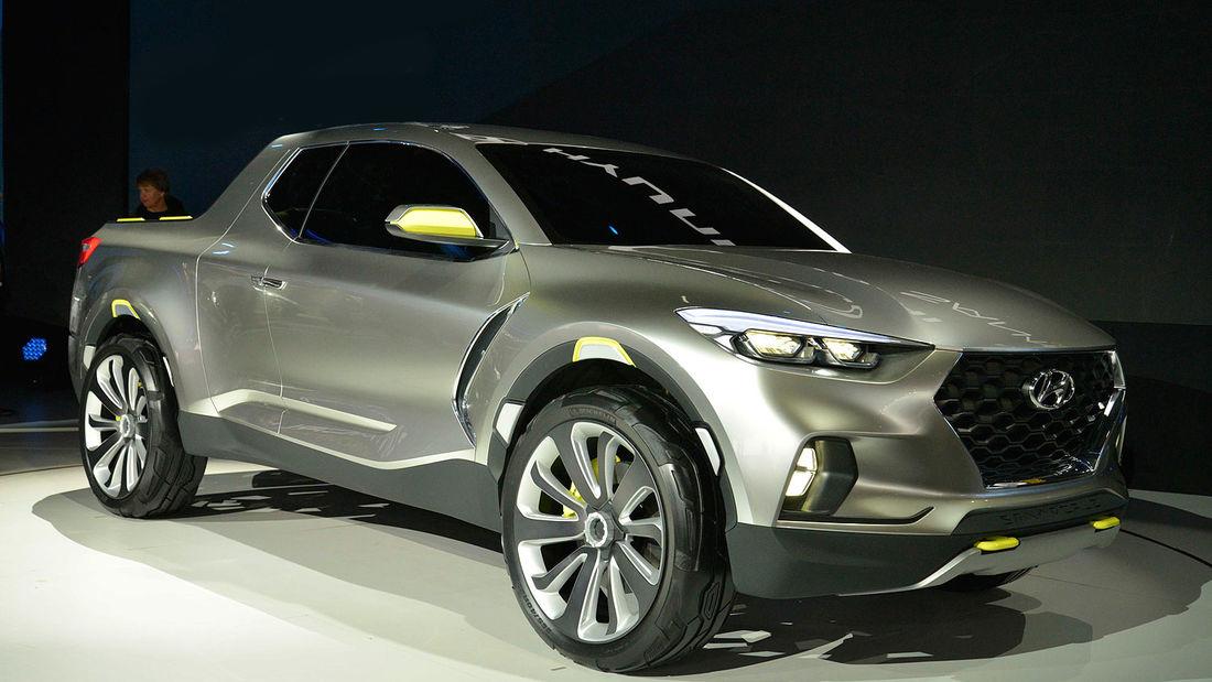 Hyundai Santa Cruz concept ra mắt tại triển lãm ôtô Bắc Mỹ 2015. Ảnh: Auto Motor und Sport