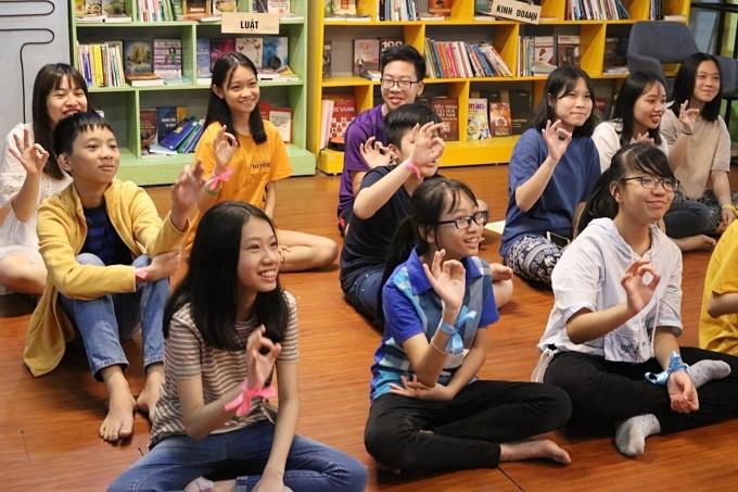 Học sinh hào hứng tham dự các khóa học giáo dục giới tính của WeGrow Edu.Ảnh: Nhân vật cung cấp