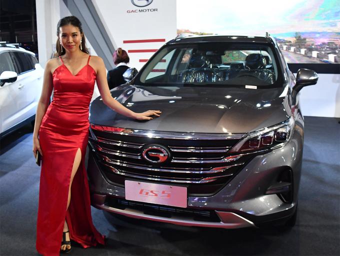 GAC giới thiệu chiếc GS5 tại triển lãm ô tô Yangon lần thứ hai. Ảnh: Yuichi Nitta/Nikkei