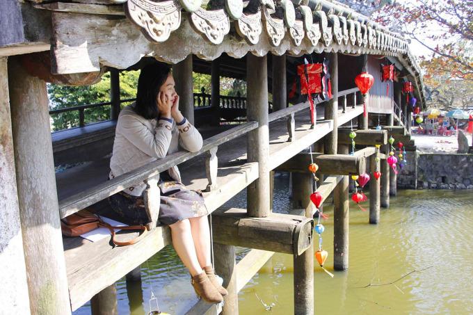 Cầu ngói Thanh Toàn trước lúc hạ giải. Ảnh: Võ Thạnh