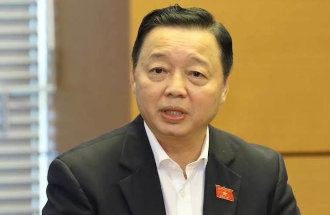 Bộ trưởng Tài nguyên Môi trường Trần Hồng Hà. Ảnh: Ngọc Thắng
