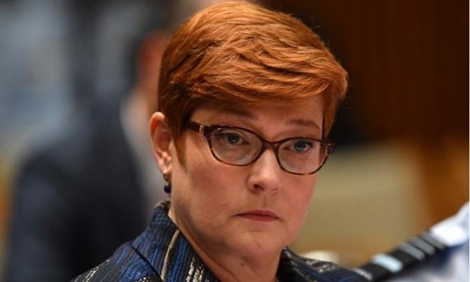 Ngoại trưởng Australia Marise Payne. Ảnh: Crikey.