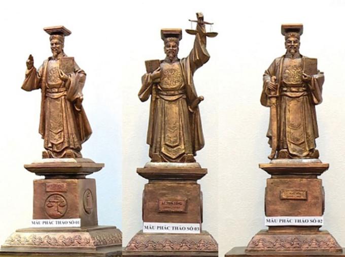Tòa án dựng tượng vua Lý Thái Tông làm biểu tượng xét xử