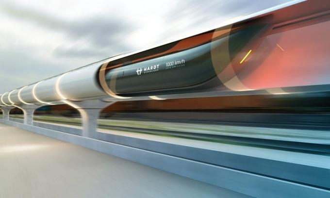 Thiết kế đường tàu siêu tốc củaHardt Hyperloop. Ảnh: Lonely Planet.
