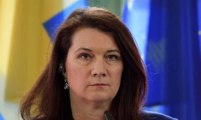 Ngoại trưởngAnn Linde tại văn phòng ở thủ đô Stockholm. Ảnh: AFP.