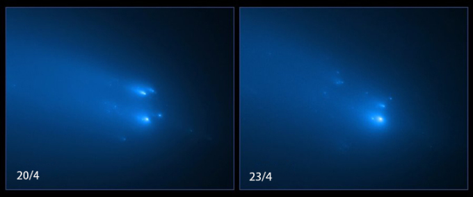 The moment the comet disintegrated