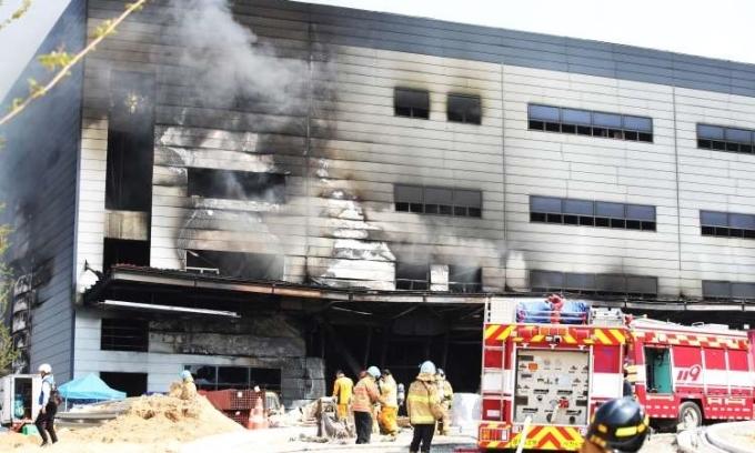 Cháy công trường xây dựng, 38 người chết