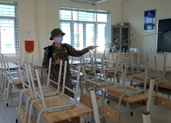 Nhà trường gấp rút chuẩn bị đón học sinh