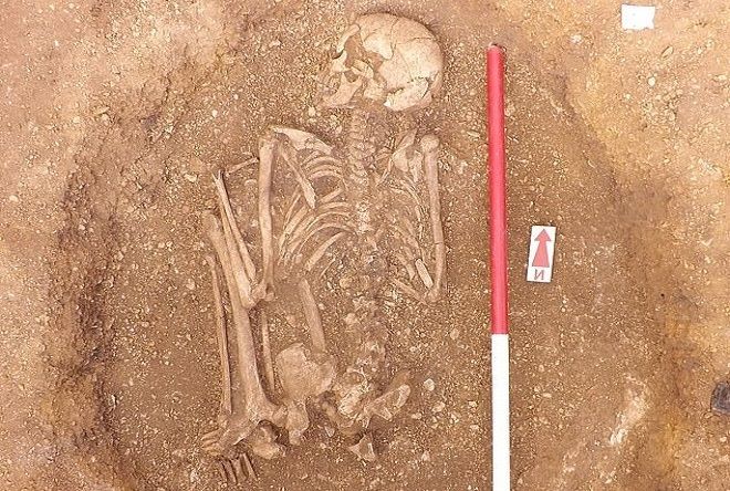 The 4,000-year-old tomb contains the remains of a chieftain and magician