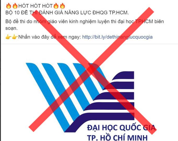 Đại học Quốc gia TP HCM bị mạo danh bán đề thi