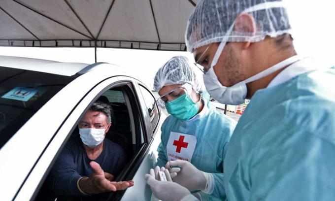 Ca nhiễm nCoV ở Brazil vượt 100.000