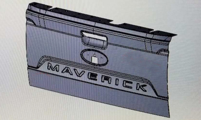 Chữ Maverick ở thiết kế cửa sau được cho là thuộc về mẫu bán tải mới của Ford. Ảnh: TFL Truck