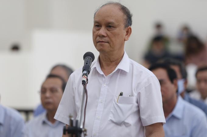 Cựu chủ tịch Trần Văn Minh. Ảnh: Phạm Dự.