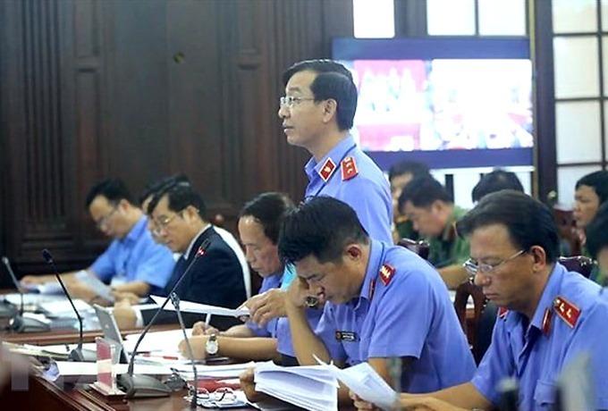 Đại diện VKSND Tối cao nêu quan điểm trong phiên giám đốc thẩm. Ảnh: TTXVN.