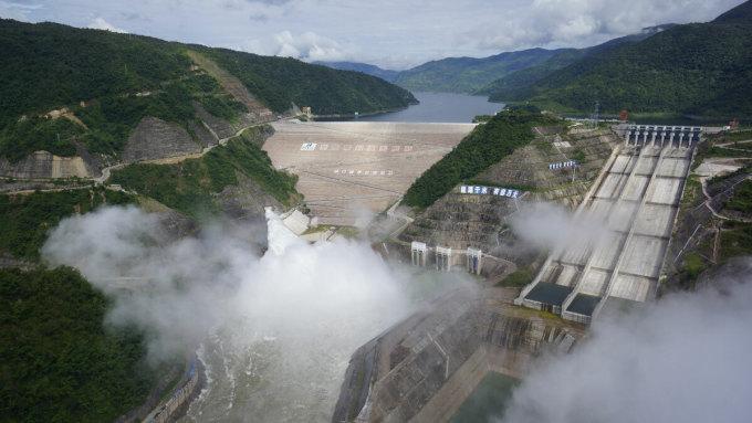Đập thuỷ điện Nọa Trác Độ của Trung Quốc trên thượng nguồn sông Mekong. Ảnh: bqaz.yn.gov.cn.
