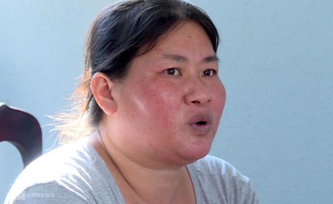 Nguyễn Thị Kim Chi tại cơ quan công an Xuyên Mộc. Ảnh: Quang Bình.