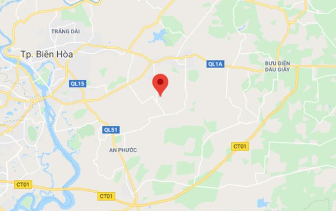 vị trí Khu công nghiệp Giang Điền, huyện Trảng Bom, Đồng Nai.