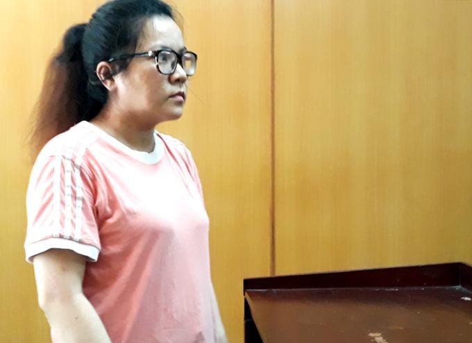 Bị cáo Linh tại tòa hôm nay. Ảnh: Hải Duyên.