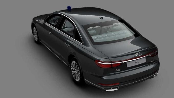 A8 L Security phát triển từ A8 L tiêu chuẩn, lắp động cơ của S8. Ảnh: Audi