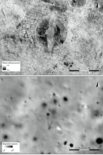 Hình ảnh radar về con tàu 1.000 năm tuổi dưới lòng đất. Ảnh: Live Science.