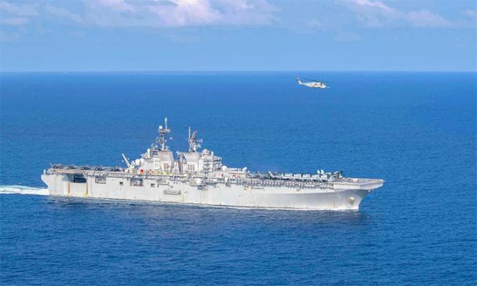 Trang bị trên chiến hạm Mỹ tuần tra Biển Đông