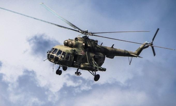 Trực thăng quân sự Nga rơi, ba người chết