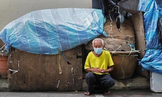 Người vô gia cư Singapore loay hoay giữa Covid-19