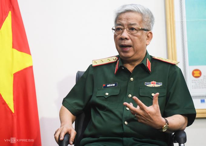 Thượng tướng Nguyễn Chí Vịnh, Thứ trưởng Quốc phòng. Ảnh: Giang Huy