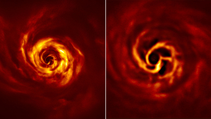 Photos of the planet being born