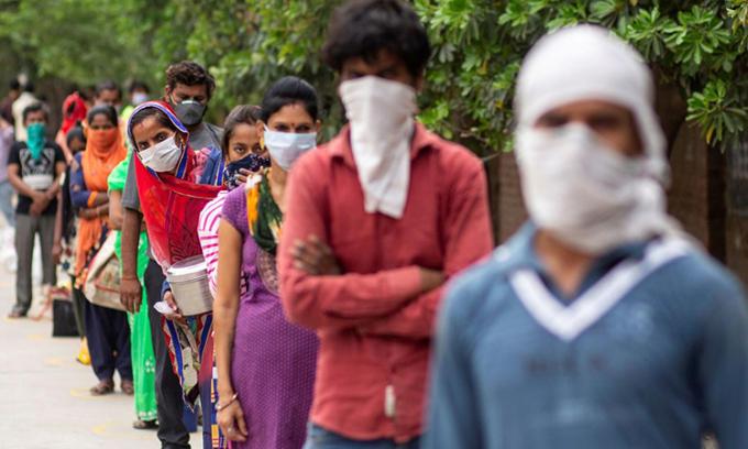Ca nCoV ở Ấn Độ tăng kỷ lục