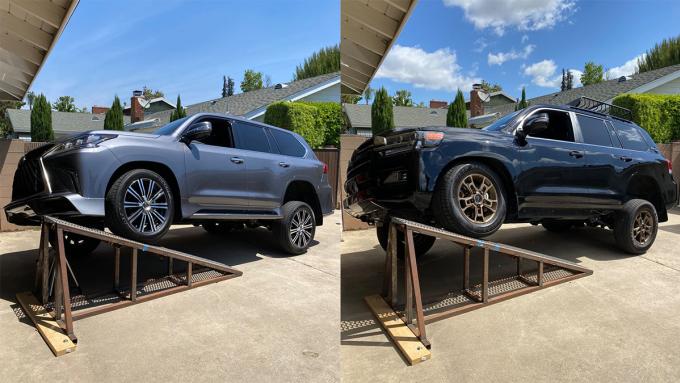 So sánh hệ thống treoToyota Land Cruiser và Lexus LX570 - 2