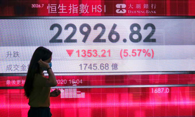 Luật an ninh có thể giáng đòn vào kinh tế Hong Kong