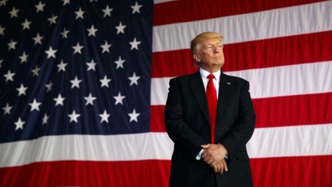 Tổng thống Mỹ Donald Trump tại một sự kiện ở thủ đô Washington năm 2017. Ảnh: AP.