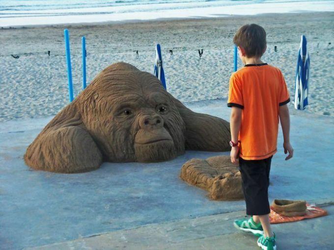 Những tác phẩm điêu khắc từ cát có thể bạnnhìnnhầm - 30