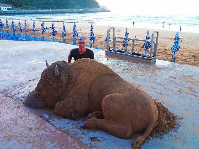 Những tác phẩm điêu khắc từ cát có thể bạnnhìnnhầm - 28