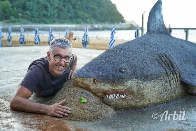 Những tác phẩm điêu khắc từ cát có thể bạnnhìnnhầm - 20